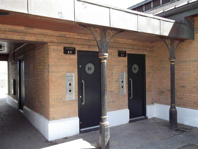 public toilet doors